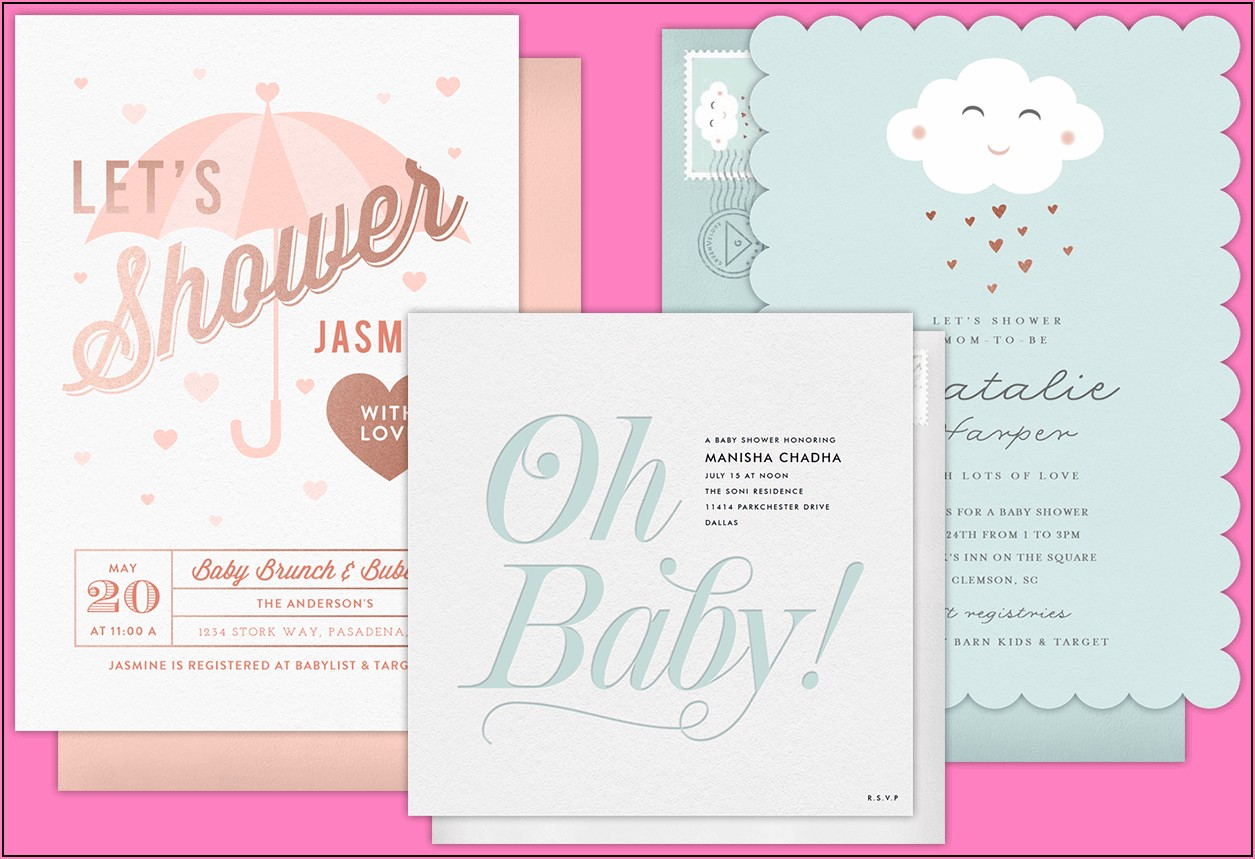 Free Electronic Baby Shower Invitations Templates