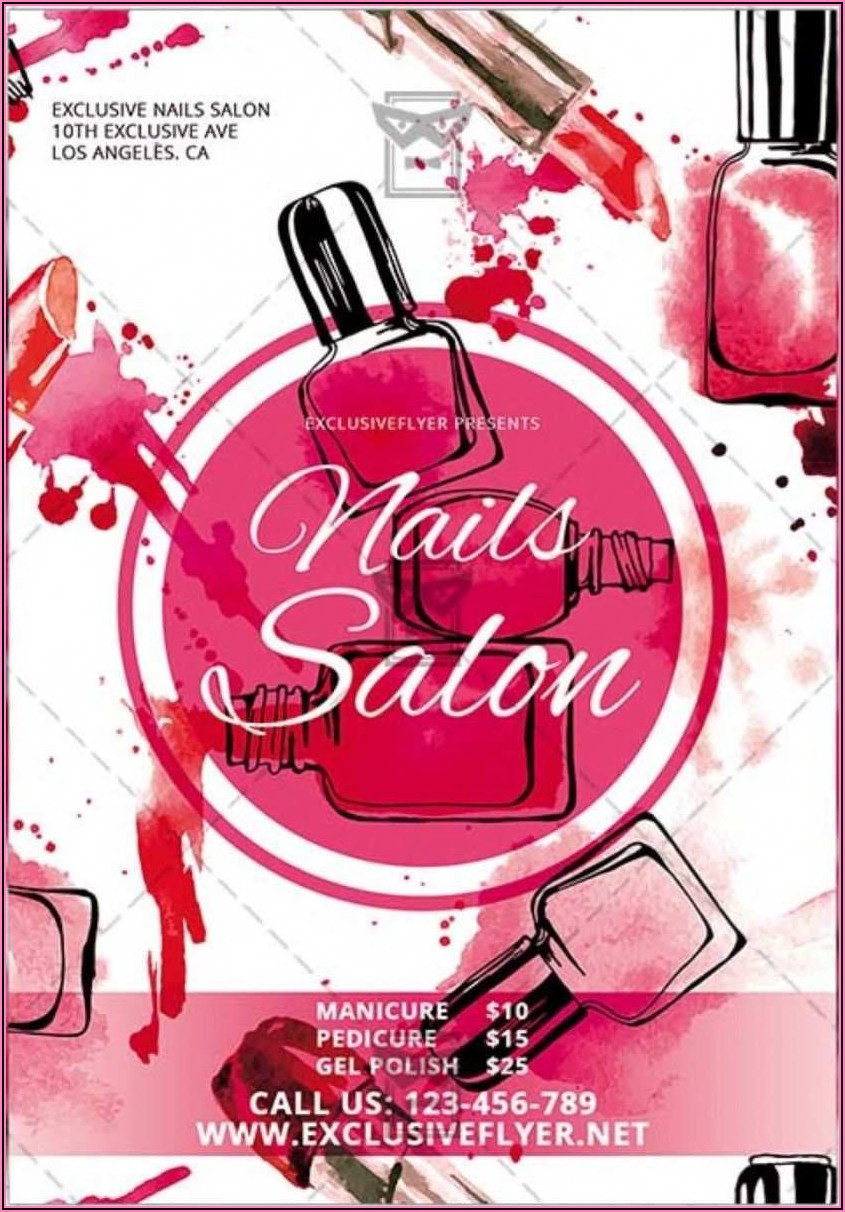 Free Nail Salon Flyer Templates