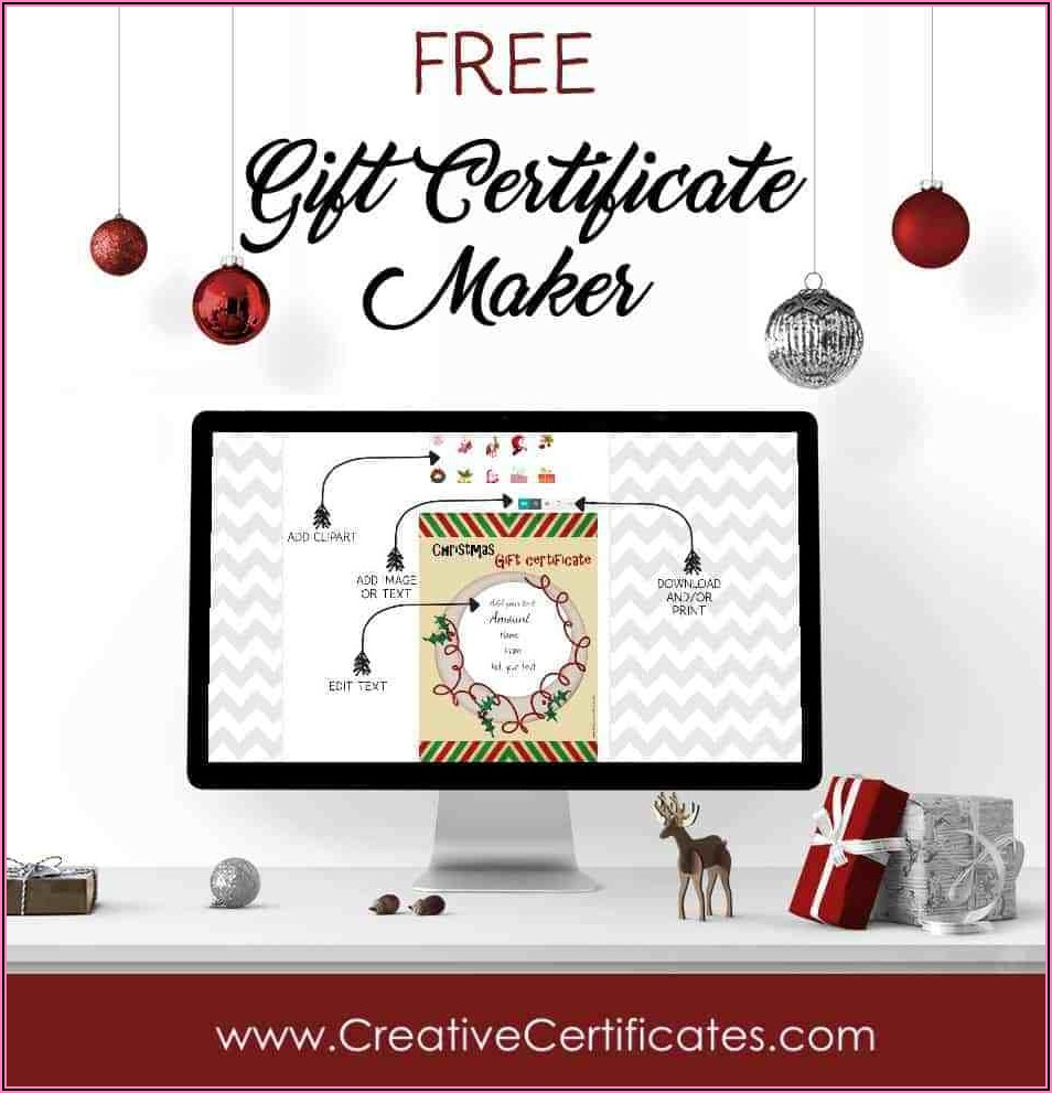 Free Online Gift Certificate Template Christmas