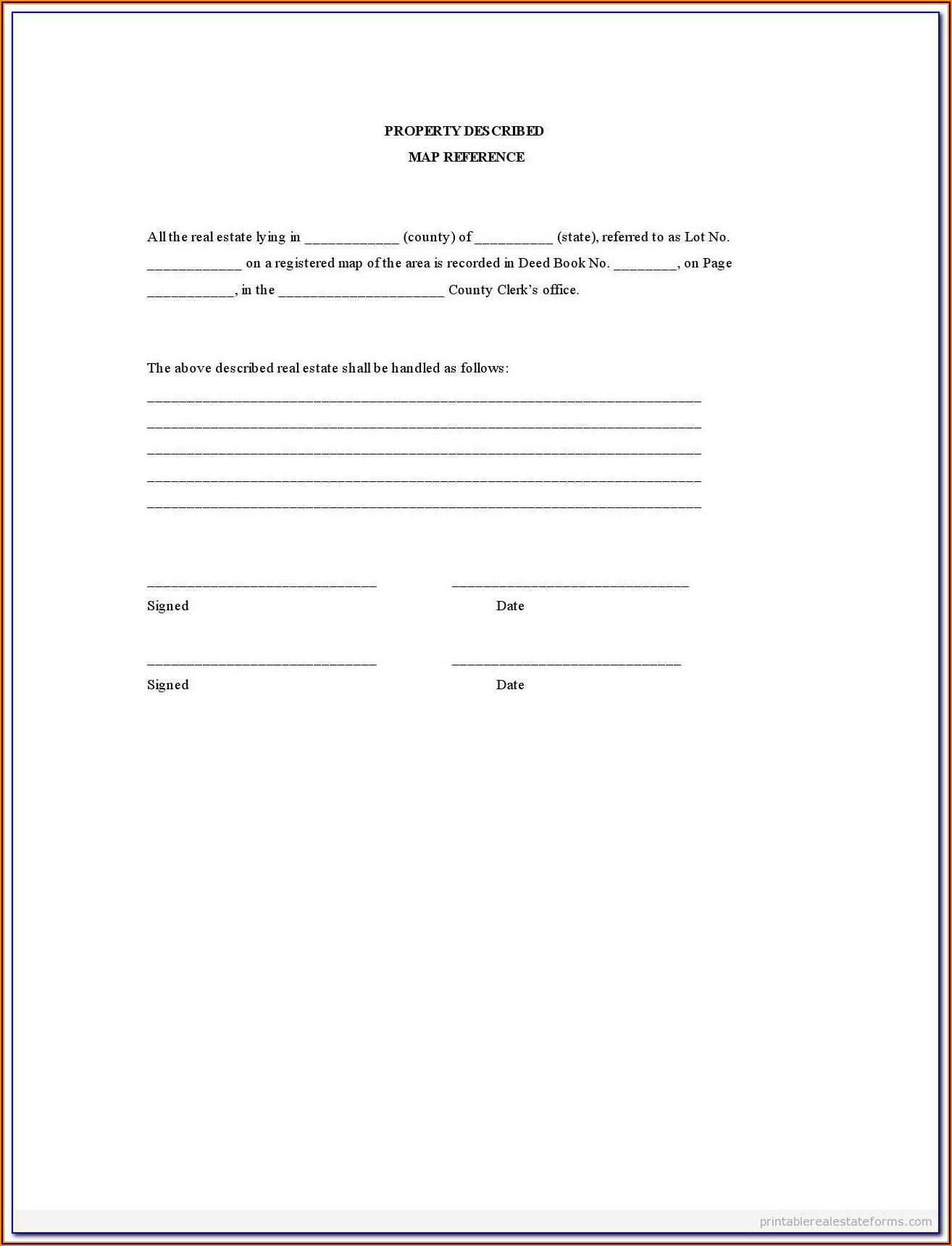 Free Printable Lien Forms