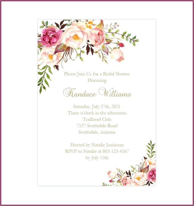 Free Printable Wedding Shower Invitation Templates