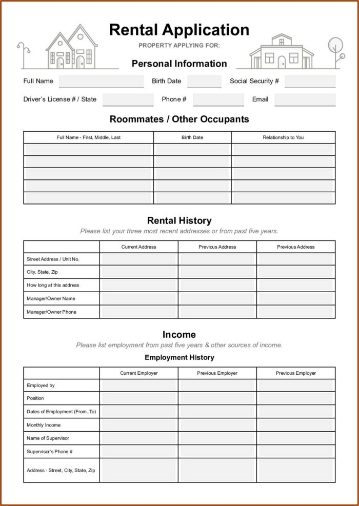 Free Rental Agreement Form California Pdf