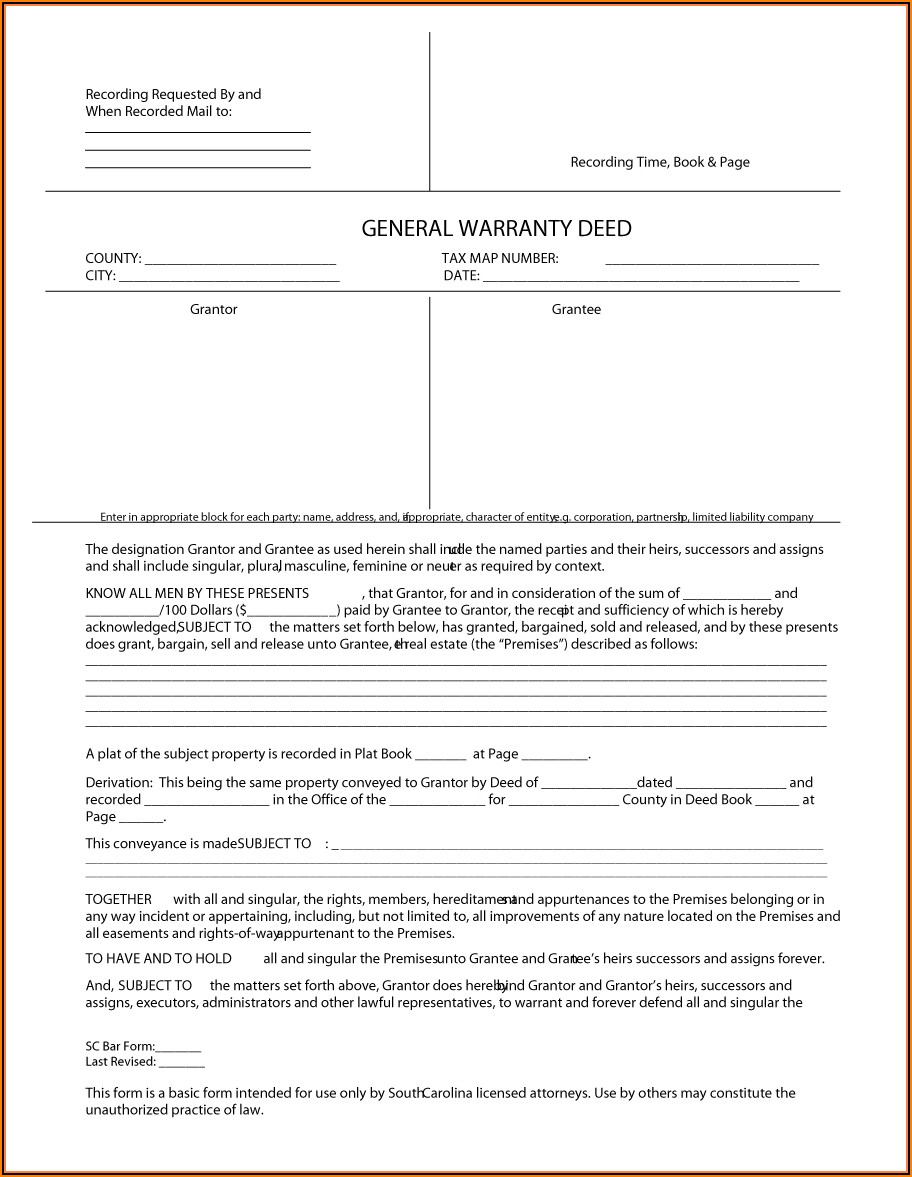 Free Warranty Deed Forms
