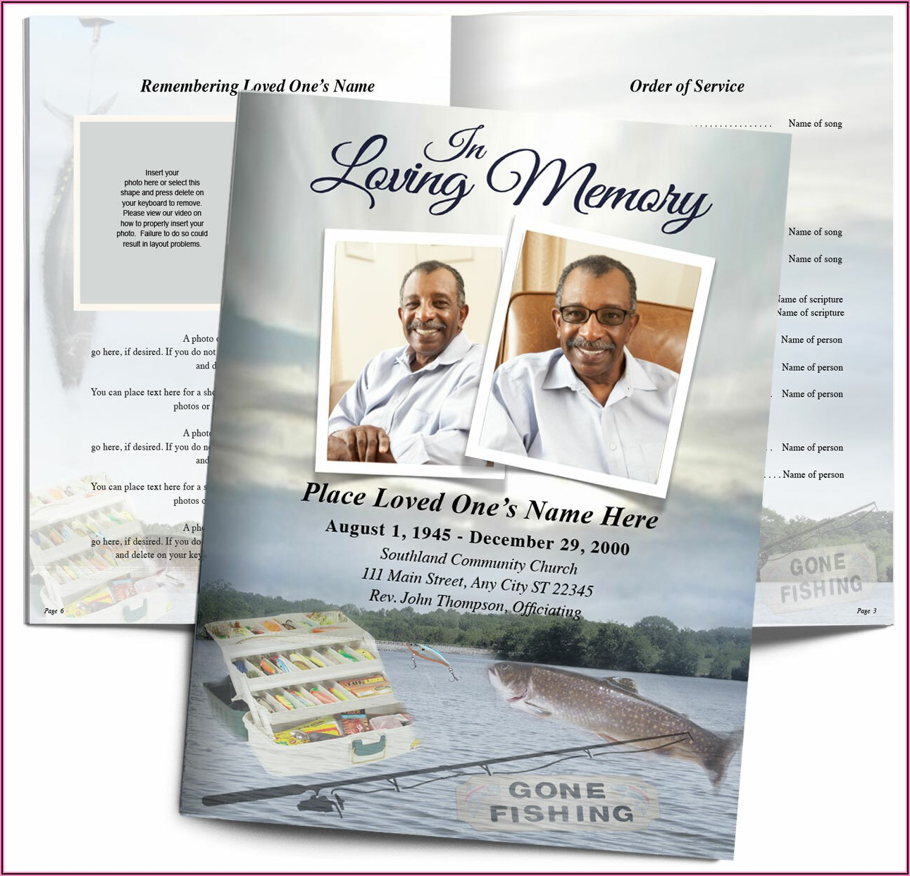 Funeral Booklet Template
