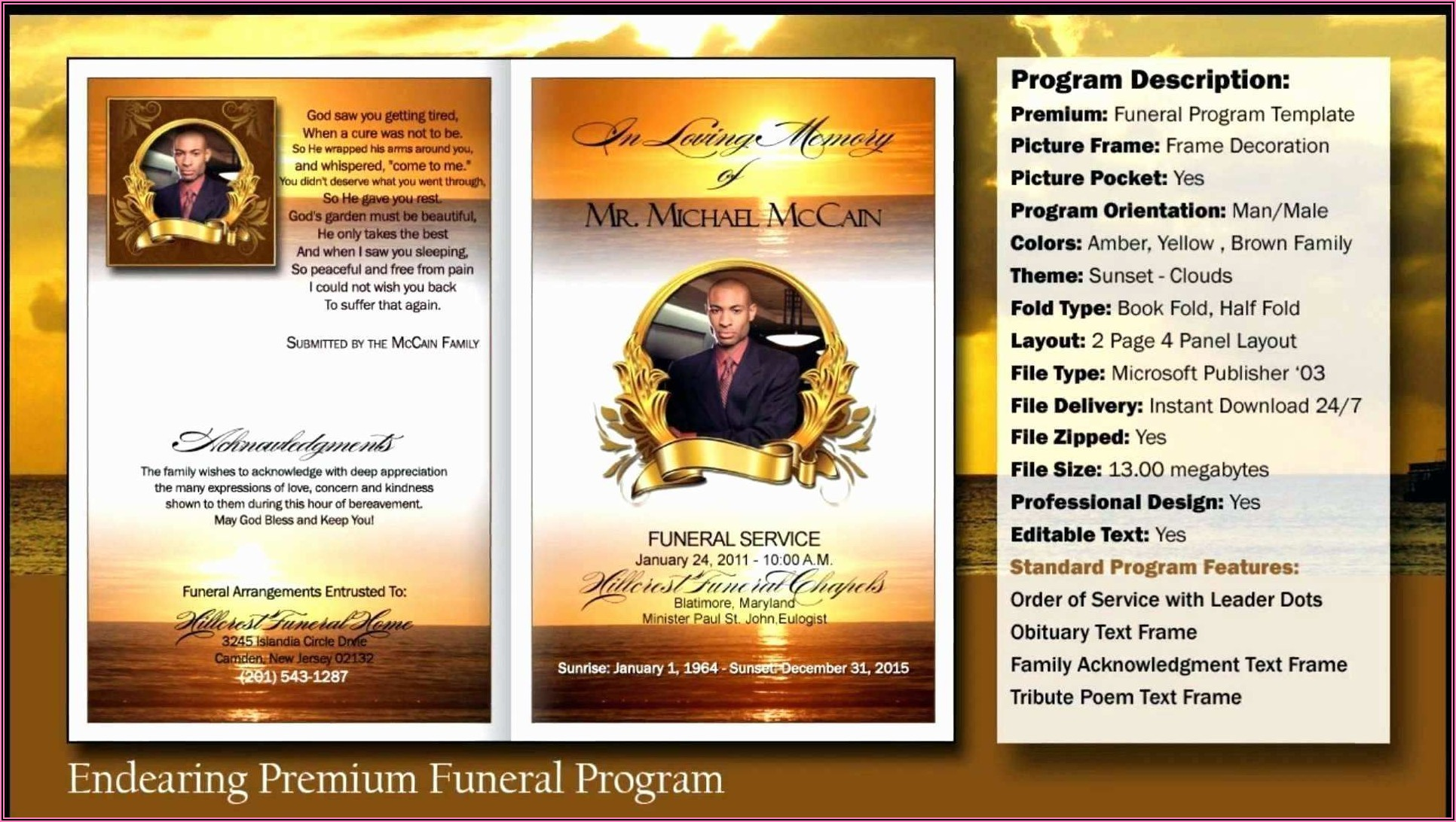Funeral Service Template Download