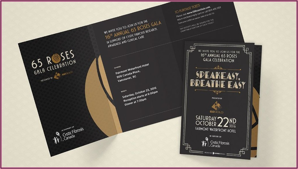 Gala Invitation Designs