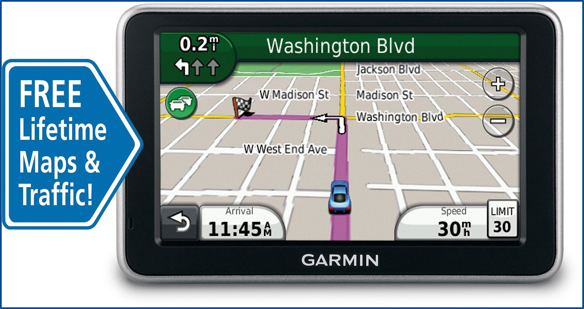 Garmin Nuvi Gps With Free Lifetime Map Updates