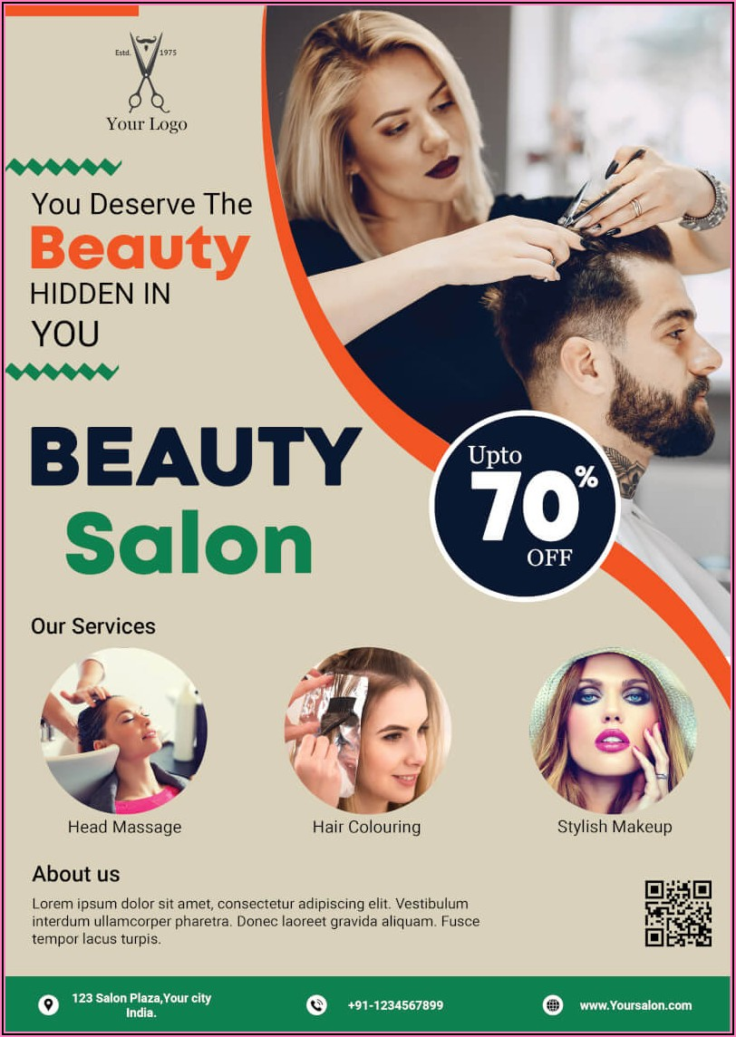 Hair Salon Sale Flyer Template