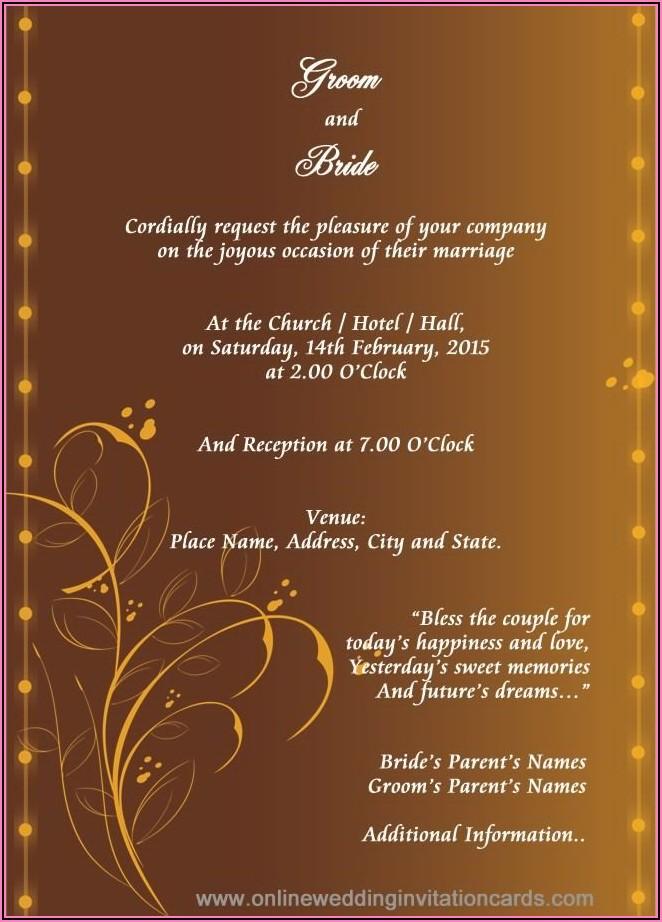 Hindu Wedding Card Invitation