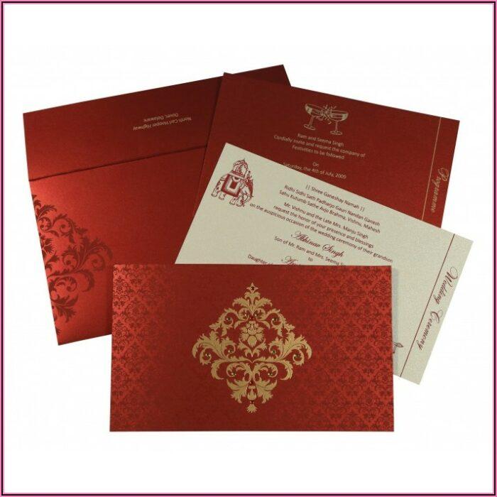 Hindu Wedding Card Templates In Hindi