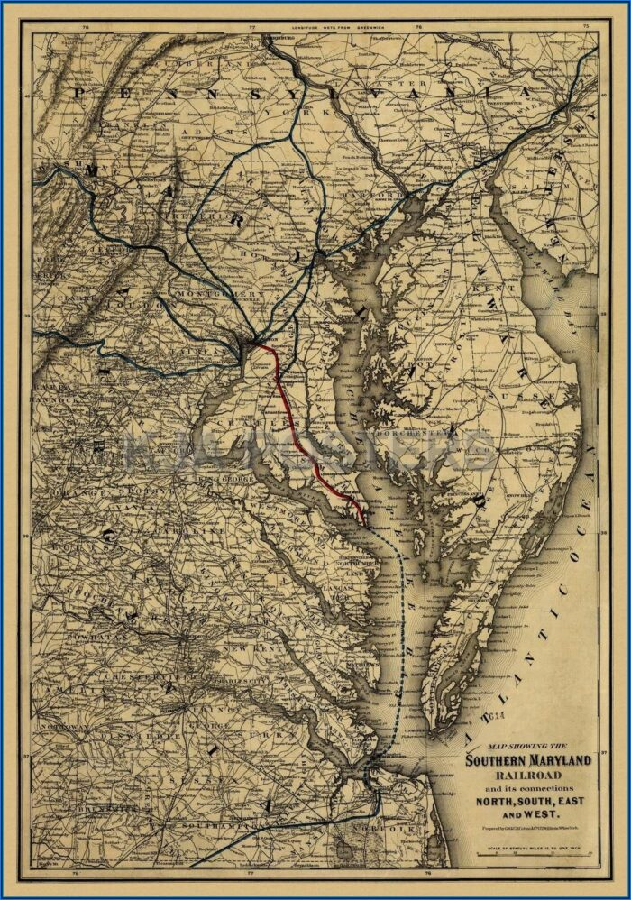Historic Maps Of Charles County Maryland