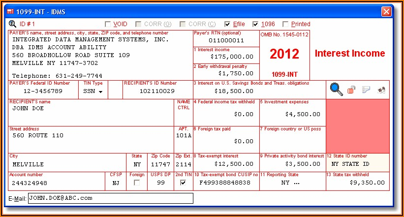 Irs Form 1099 Int Filing Requirements