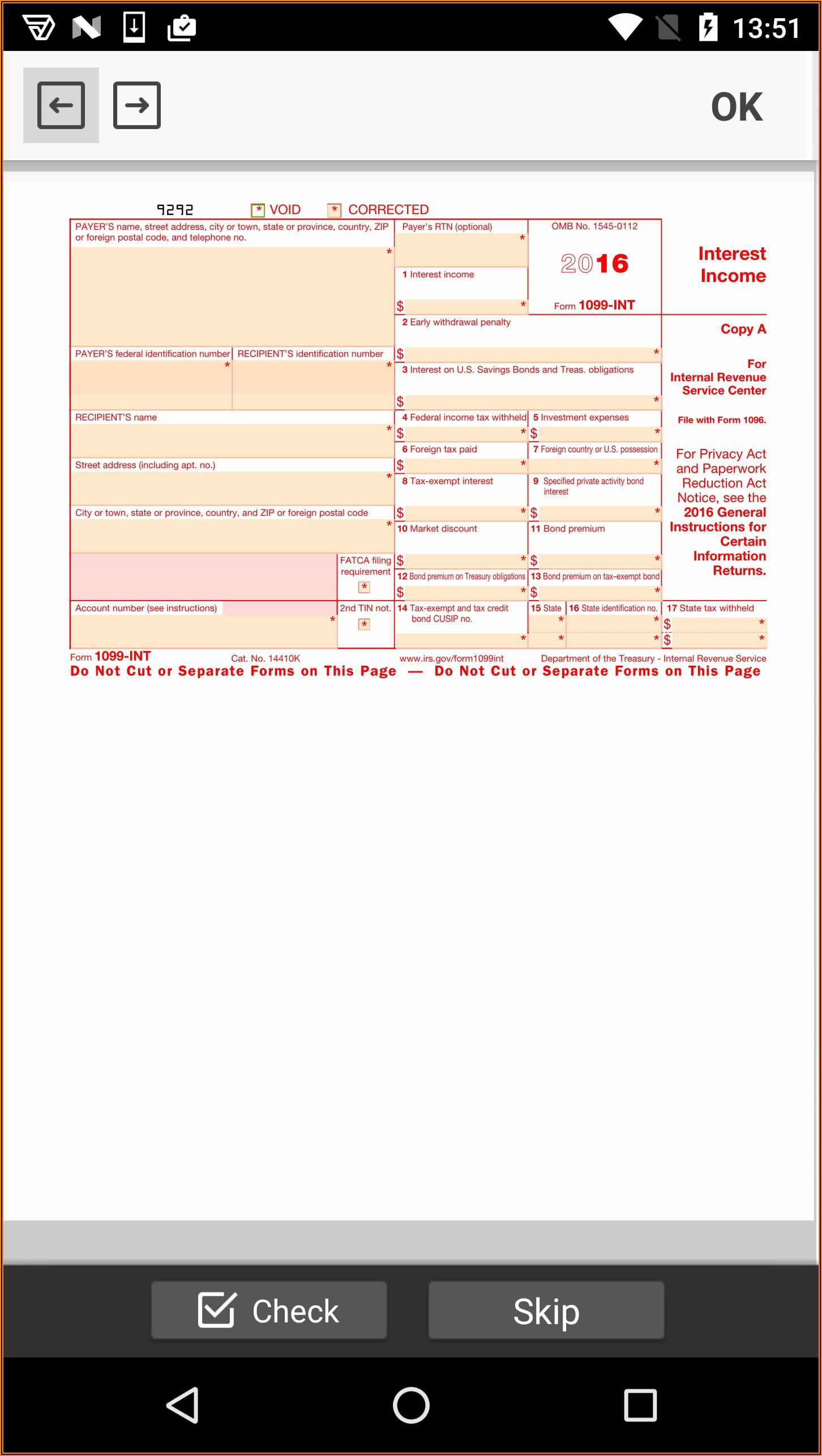Irs Tax Form 1099 Int