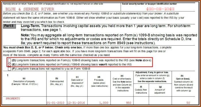 Irs Tax Forms 1099 B