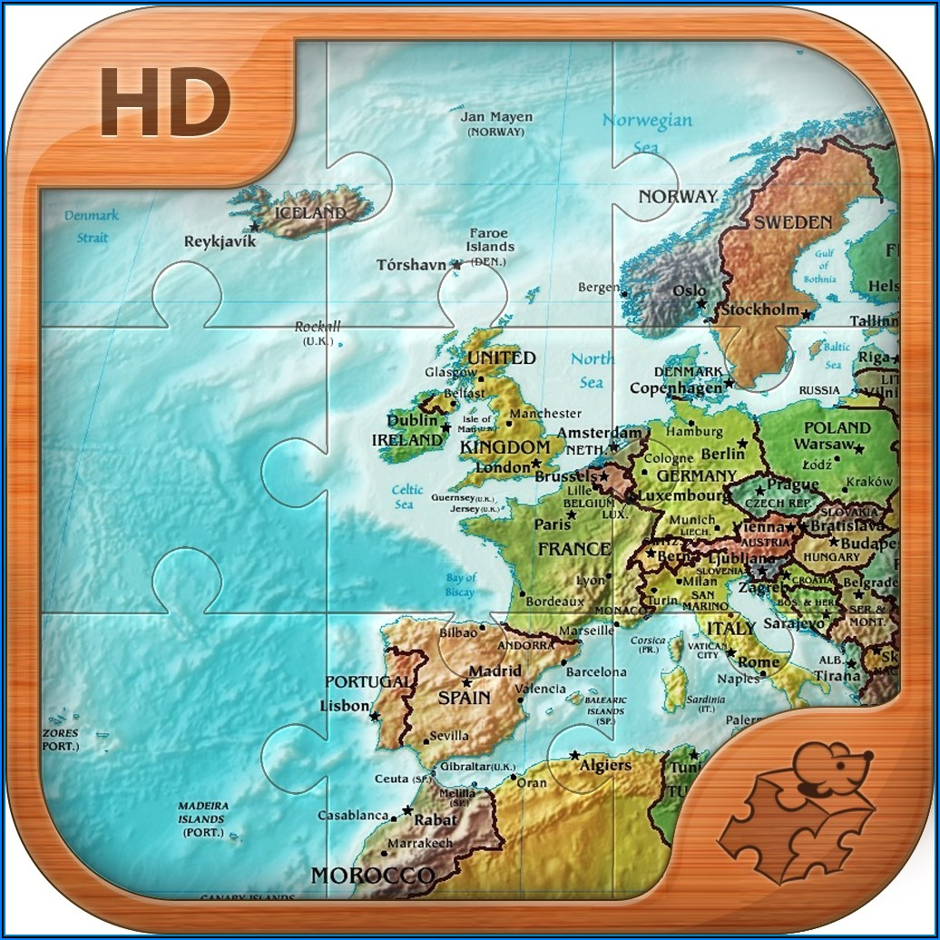 Jigsaw Puzzles Of Maps Of The World