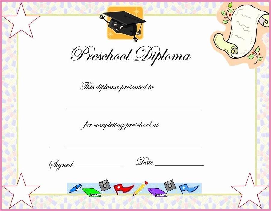 Kindergarten Certificate Template Editable