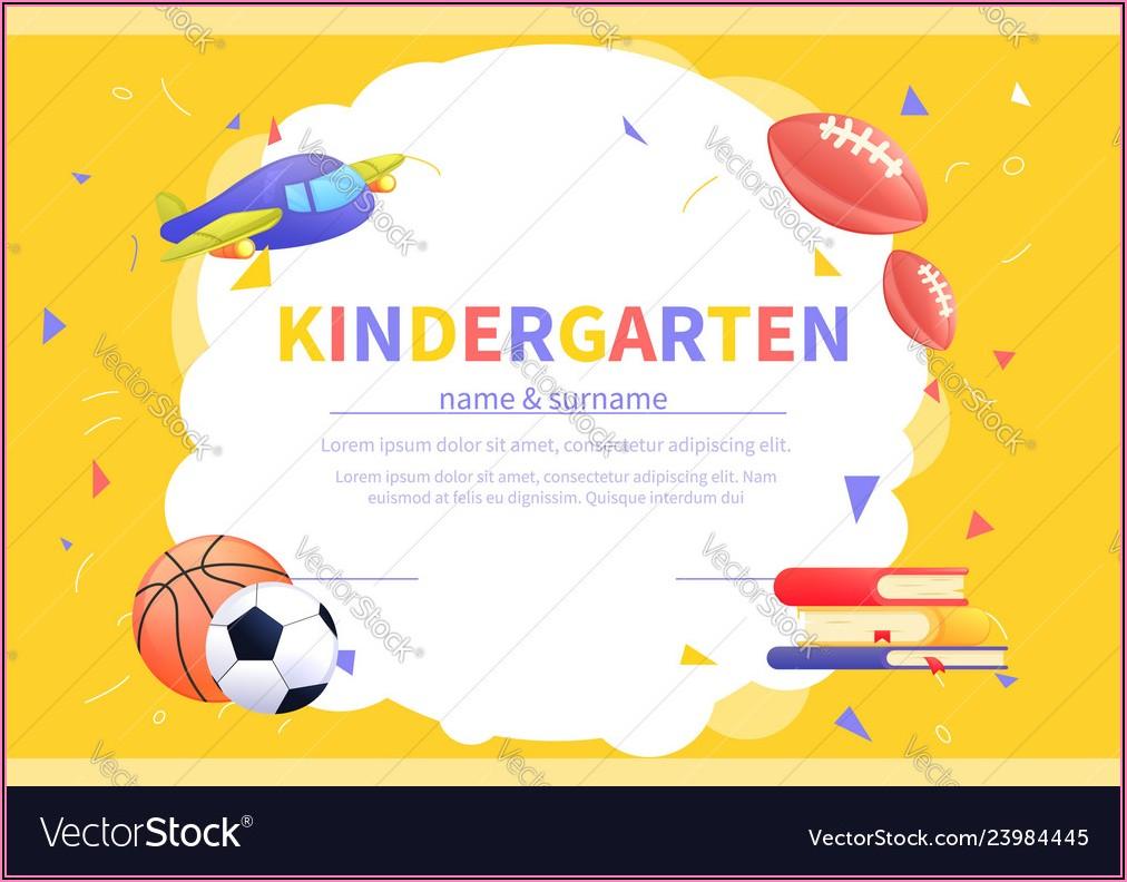 Kindergarten Certificate Templates