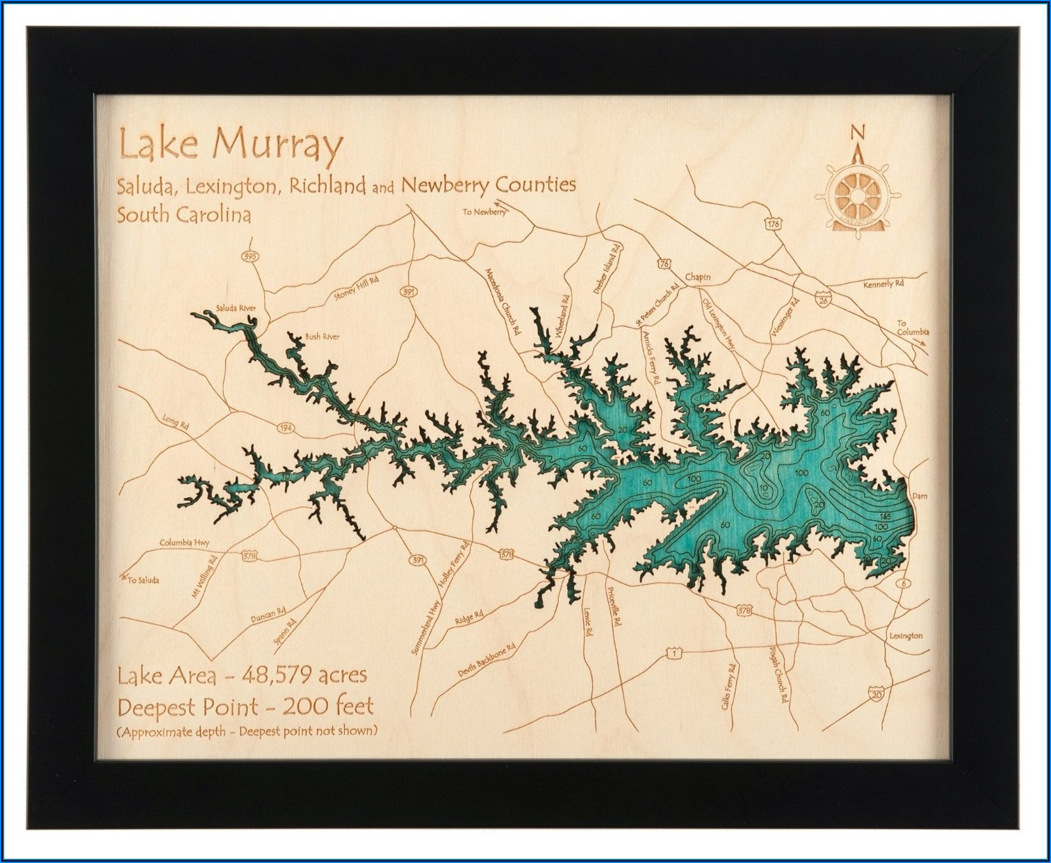 Lake Superior Topographic Map