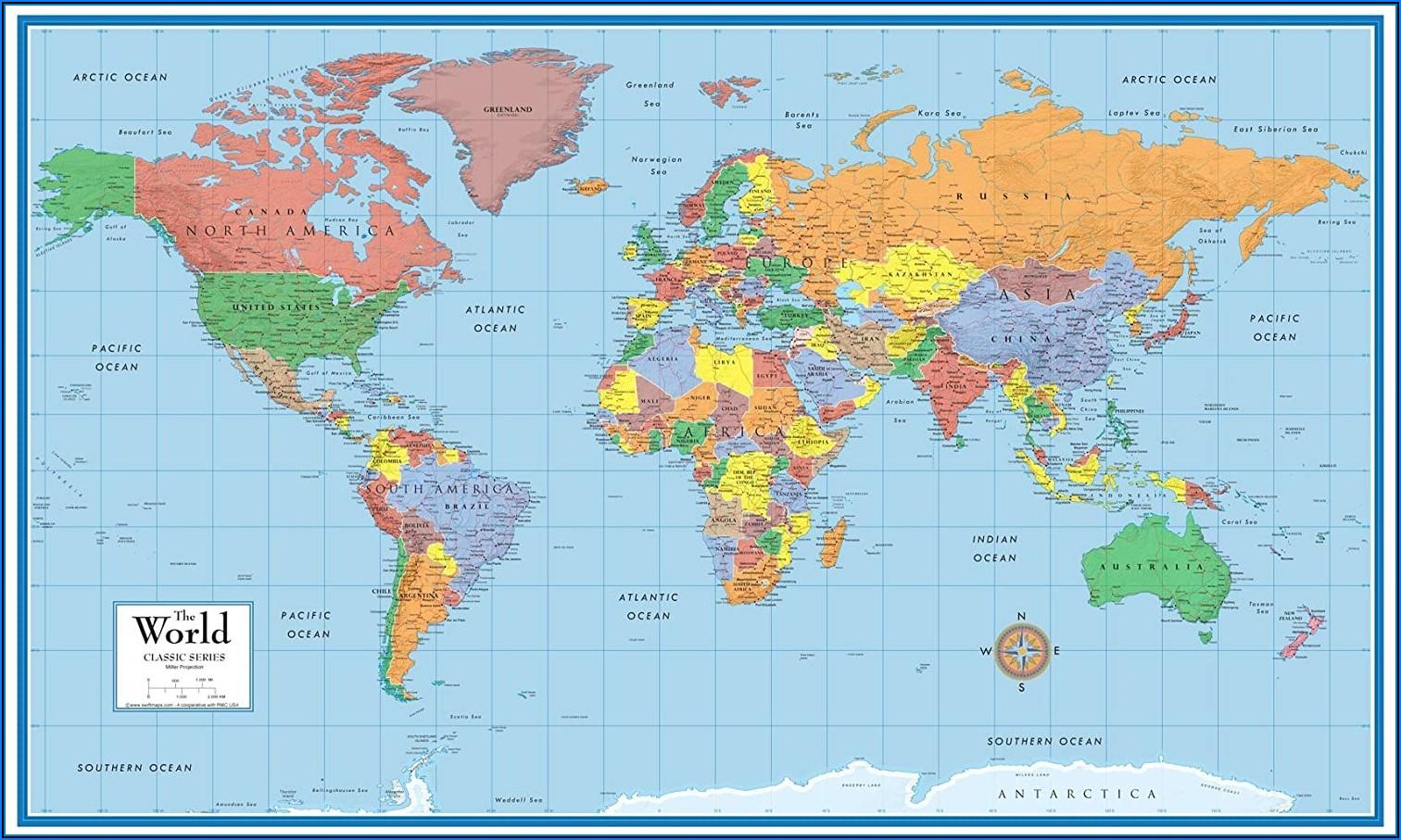 Laminating Large Maps