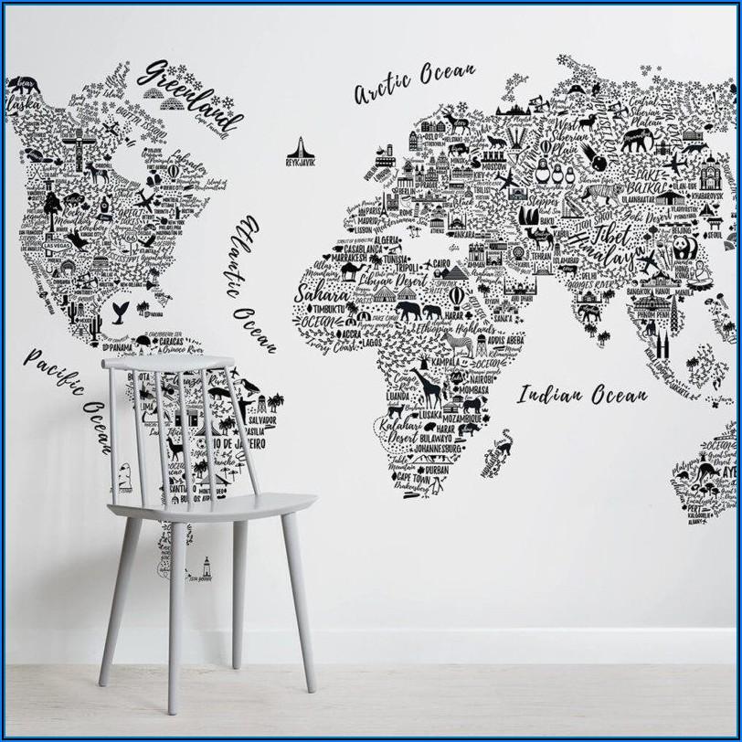 Map Mural Wallpaper