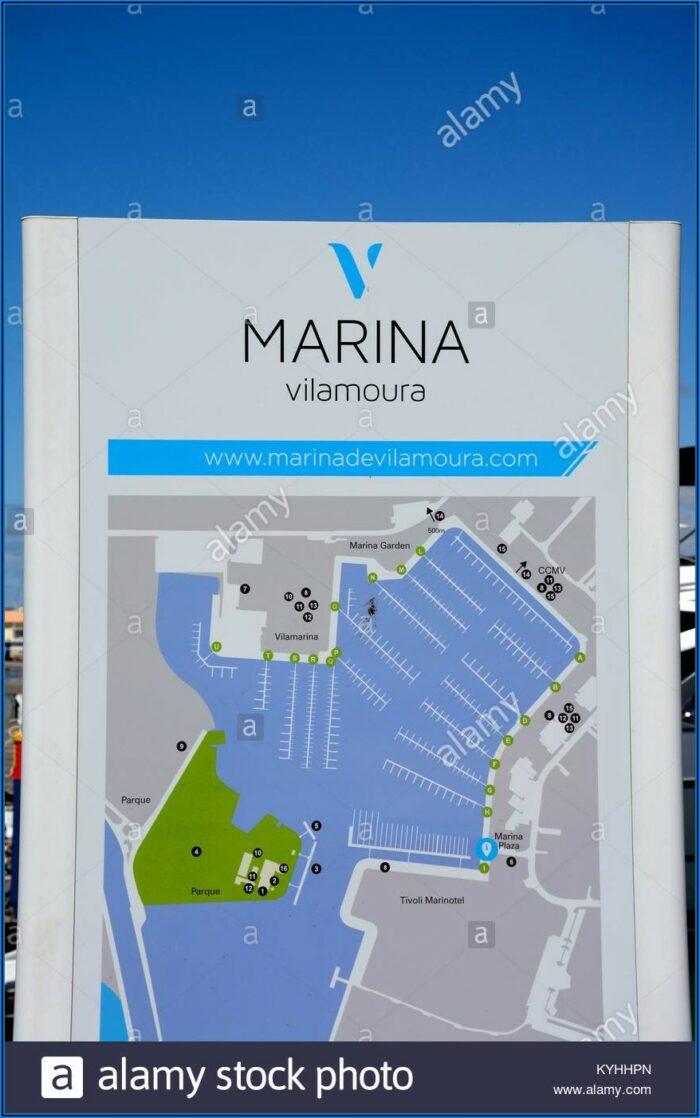 Map Of Vilamoura Marina Portugal