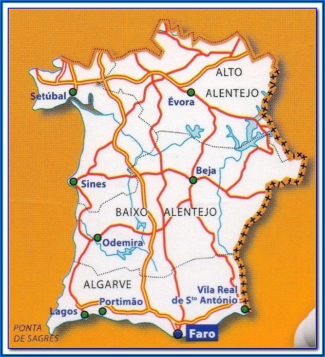Map Of Vilamoura Portugal