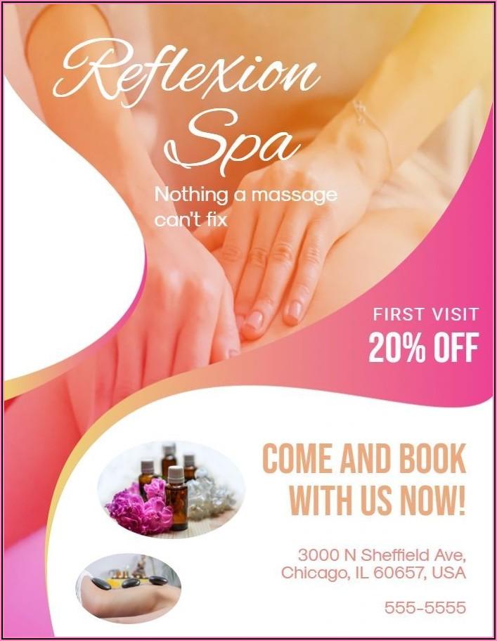 Massage Therapist Flyer Templates