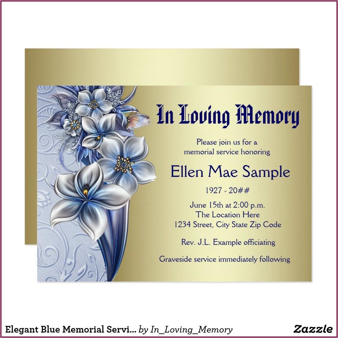 Memorial Service Announcement Examples
