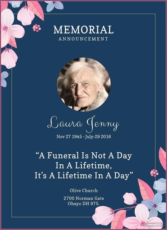 Memorial Service Invitation Template Word