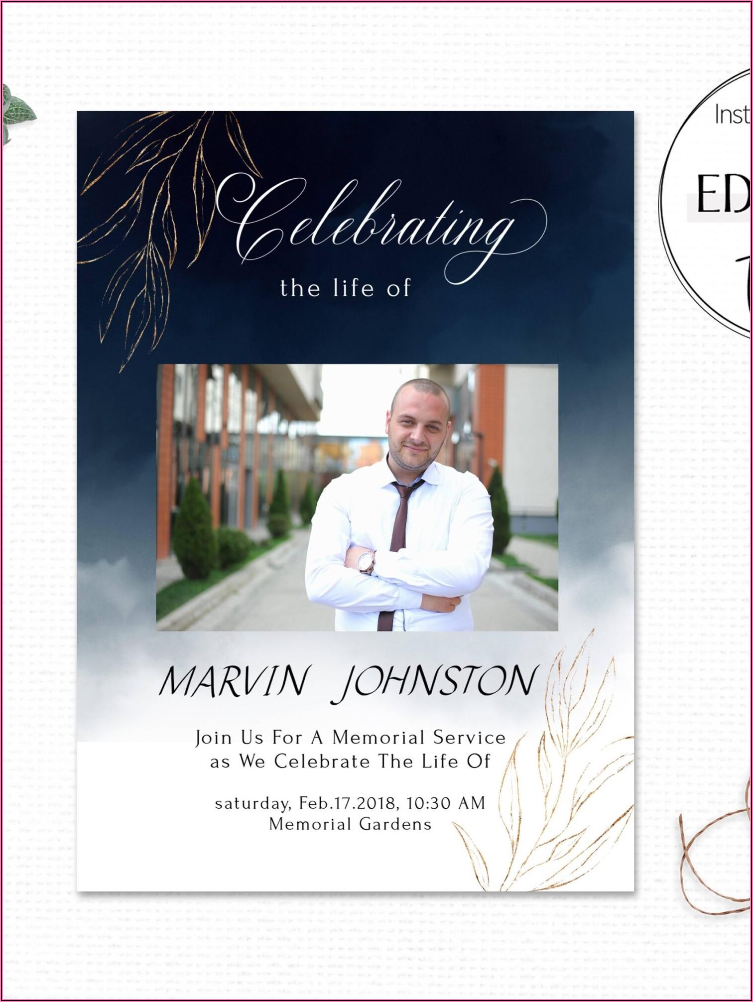 Memorial Service Invitation Template