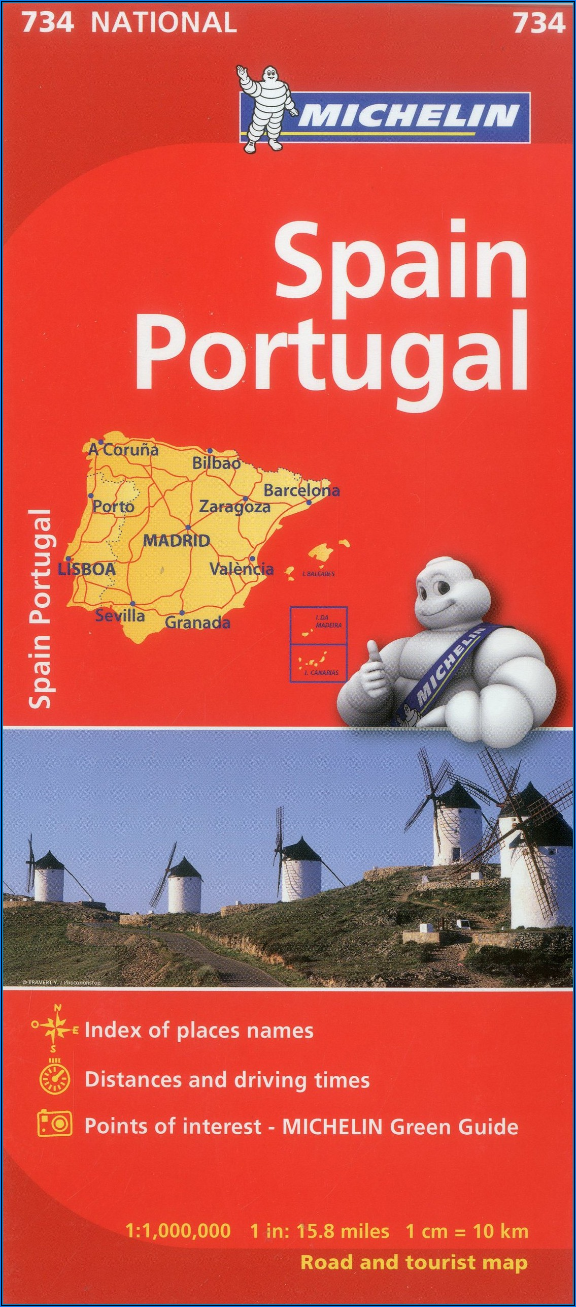 Michelin Map Spain Portugal