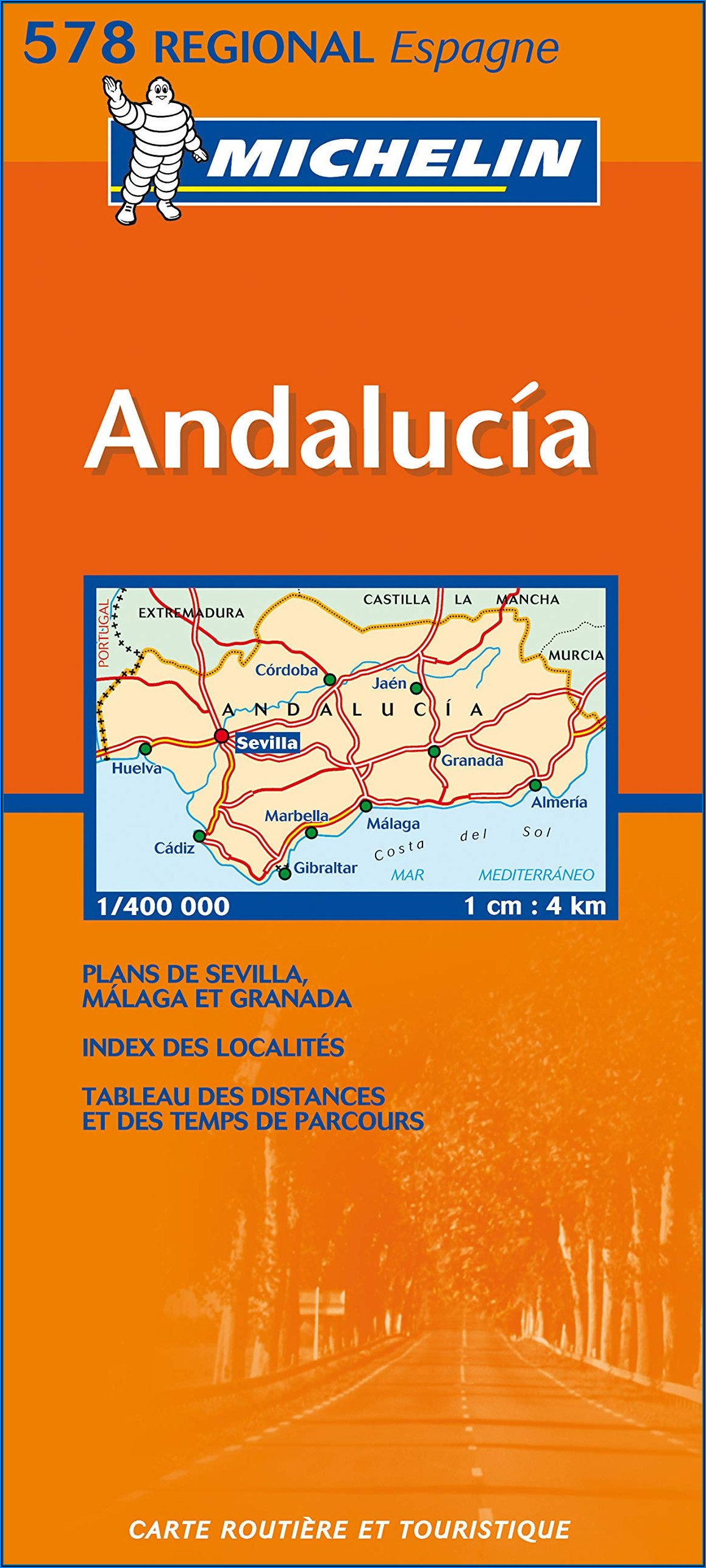 Michelin Map Spain Southern Andalucia 578