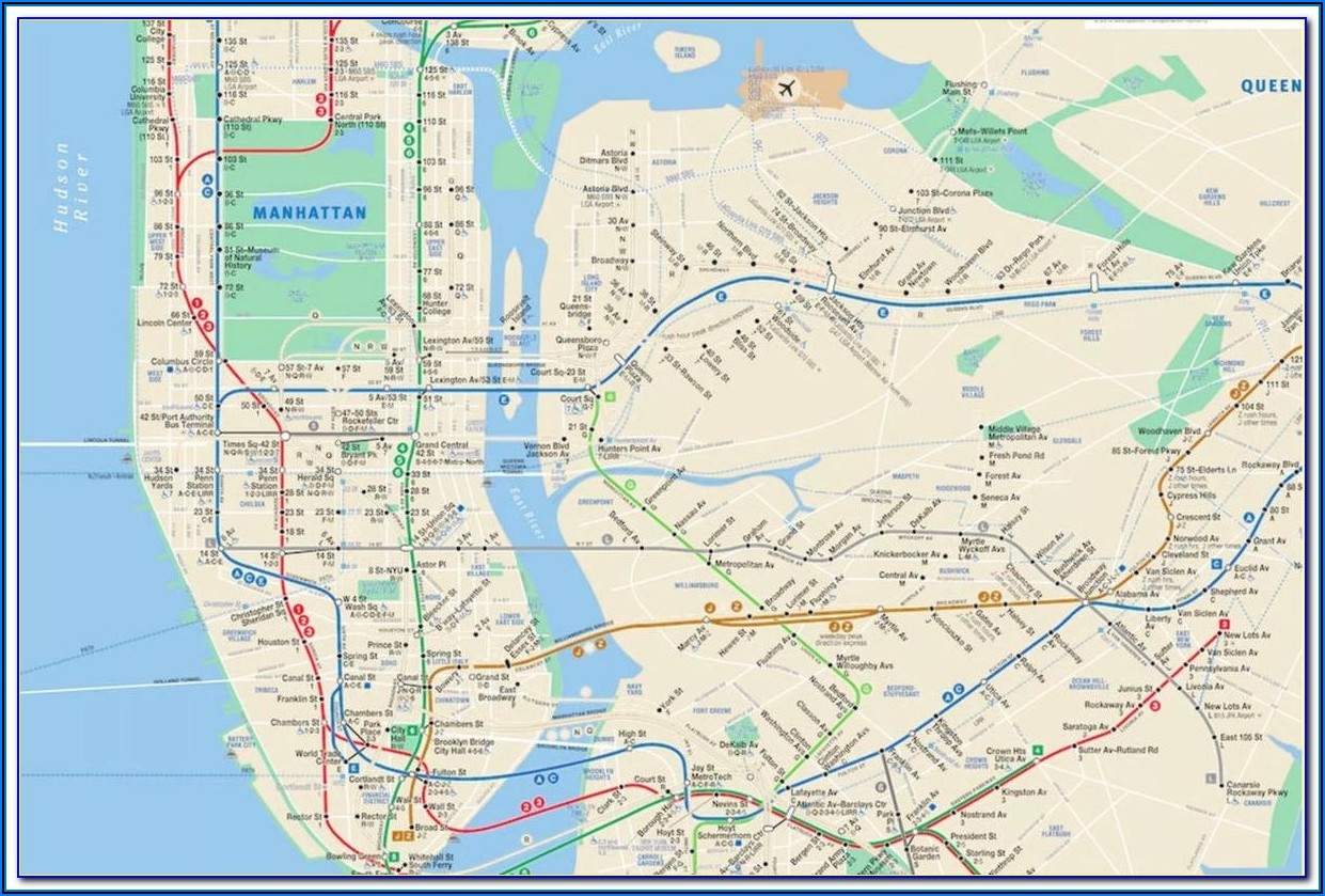 Mta Map New York City Subway