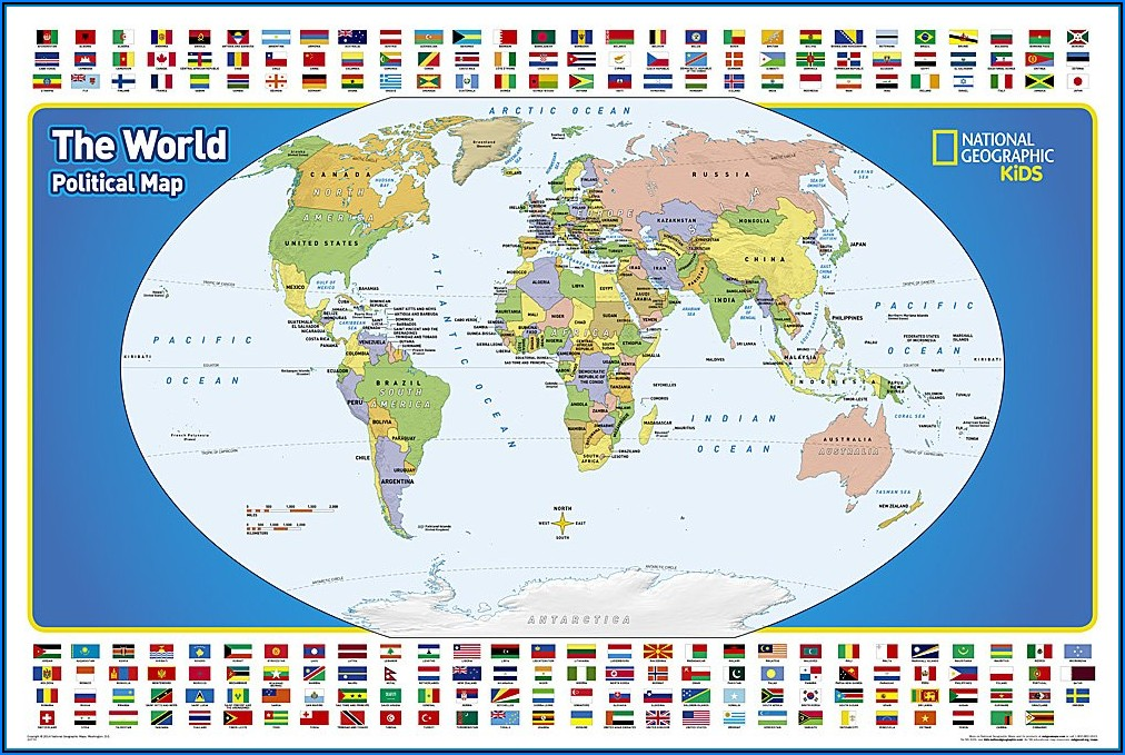 National Geographic Facts Of The World Map