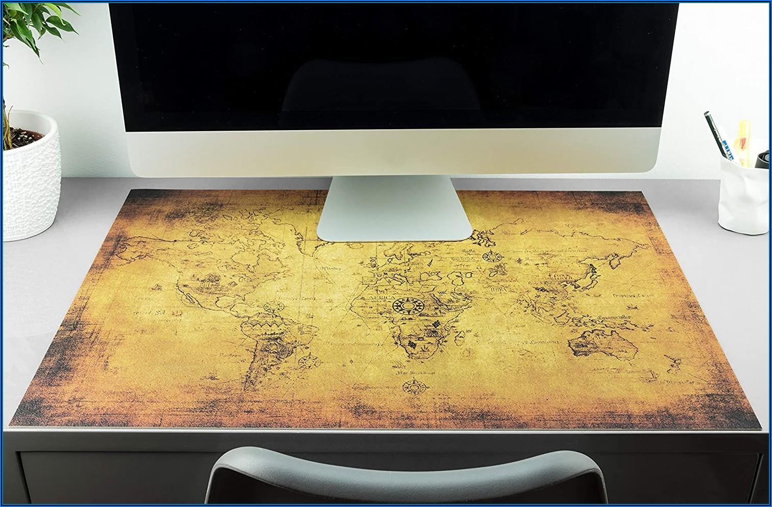 Old World Map Desk Pad