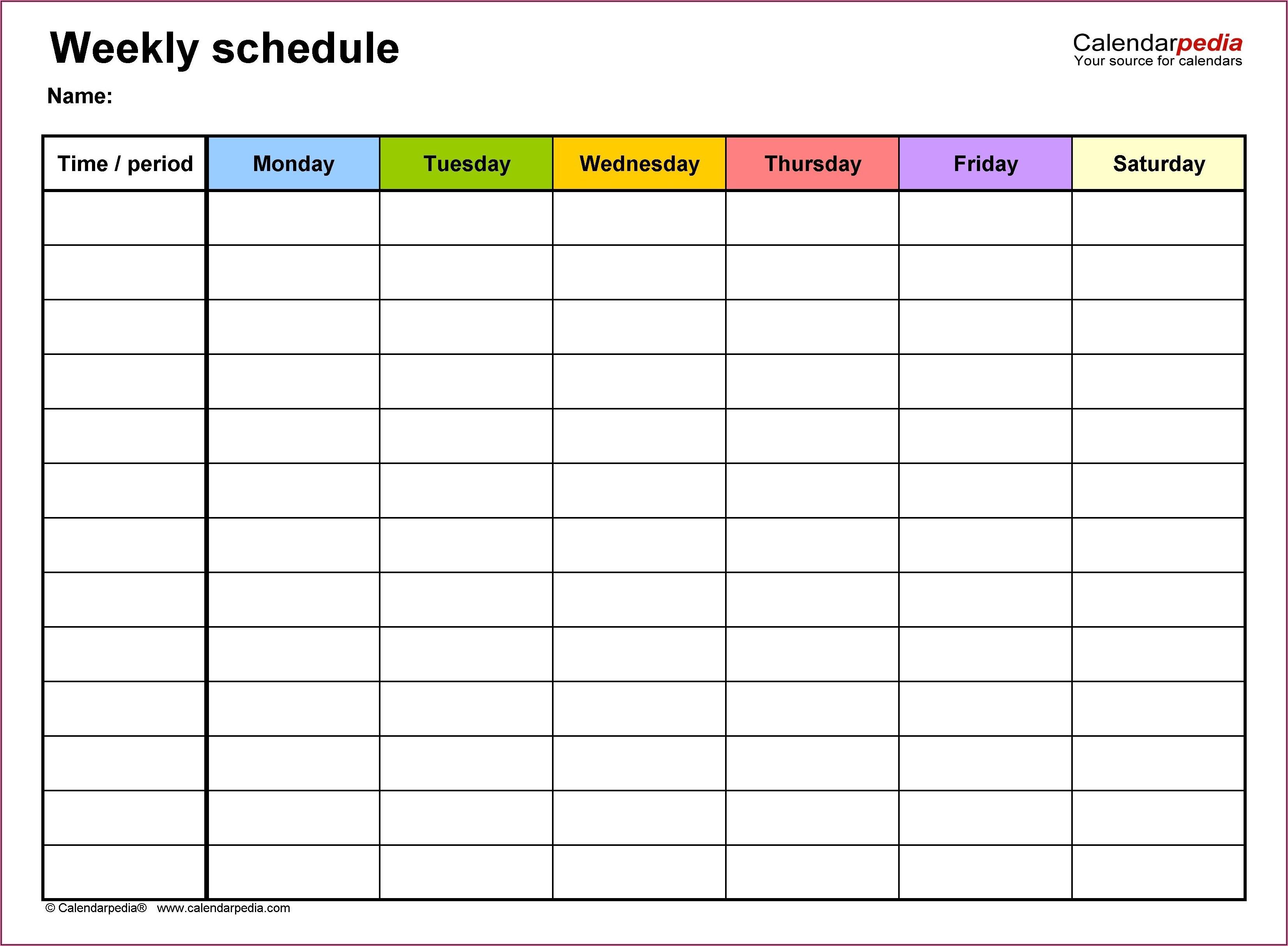 On Call Calendar Excel Template