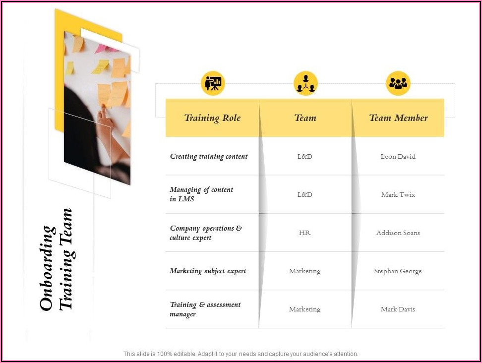 Onboarding Training Template