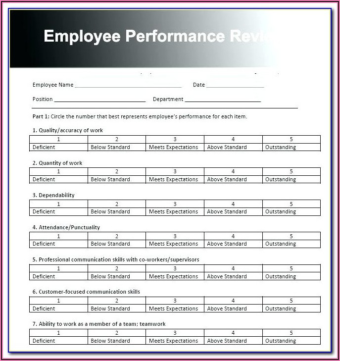 Performance Appraisal Goals Examples For Managers