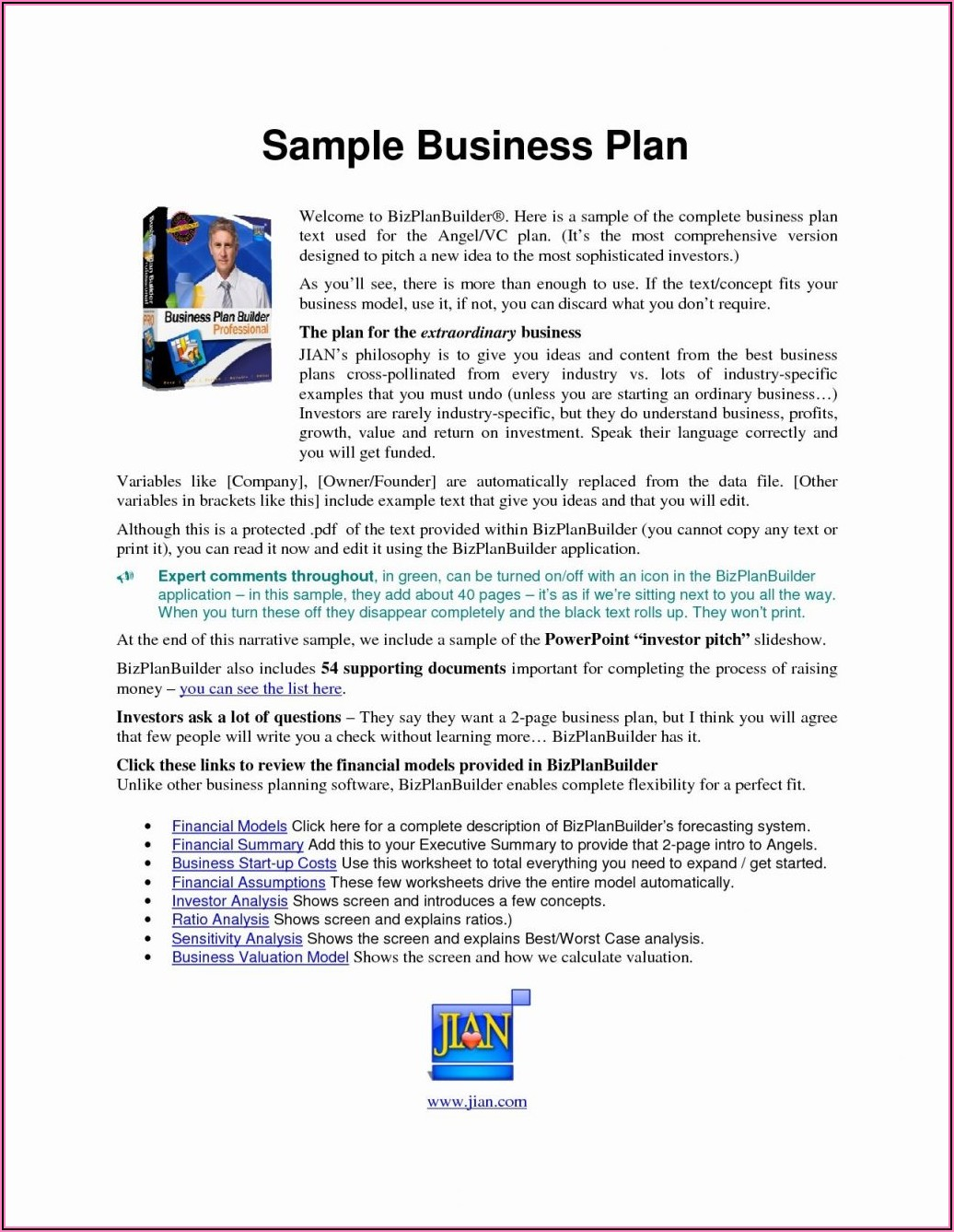 Personal Training Business Plan Template