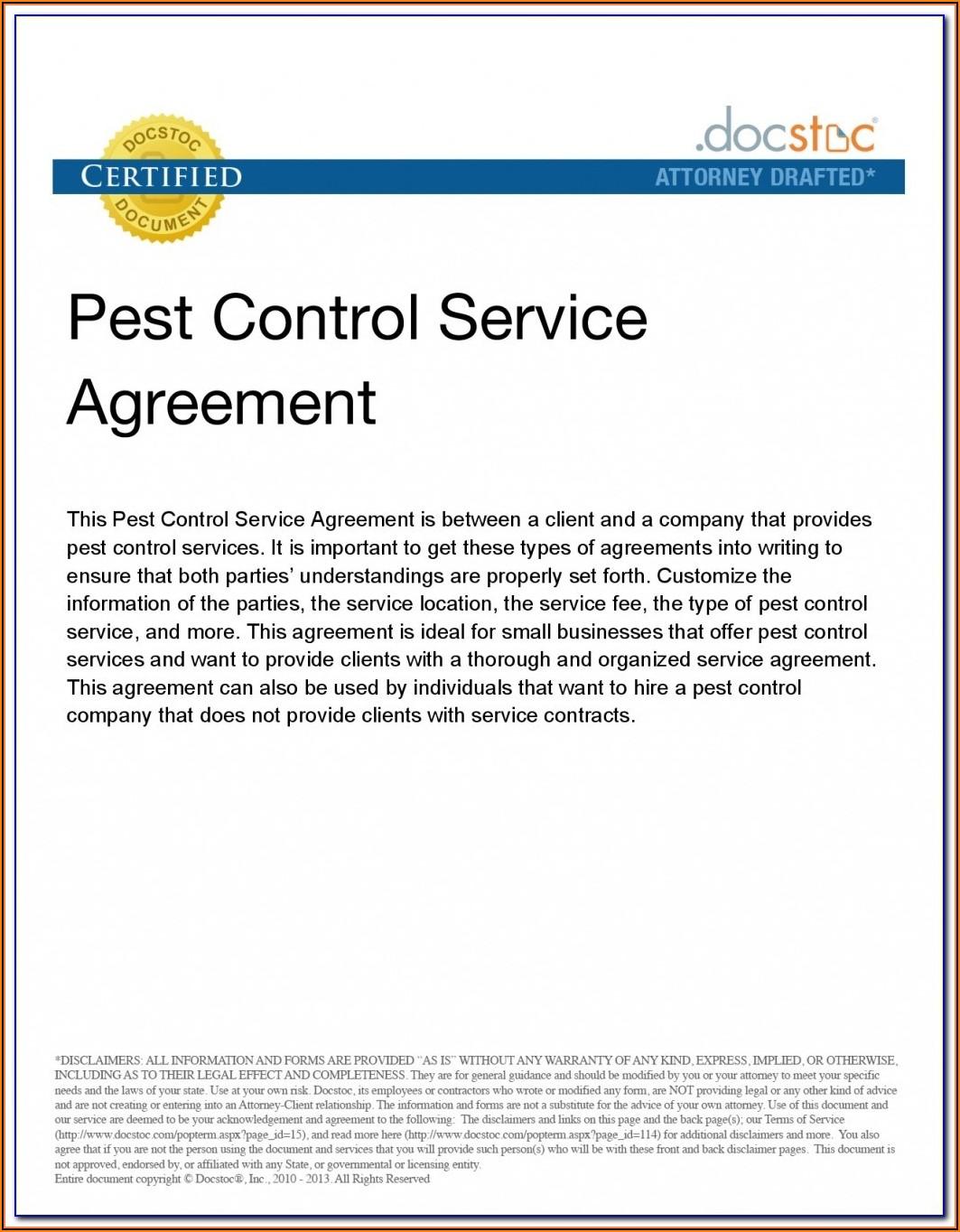Pest Control Form Npma 33