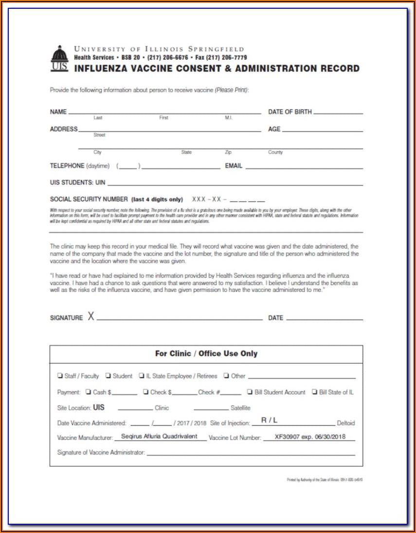 Pneumonia Vaccine Consent Form 2018