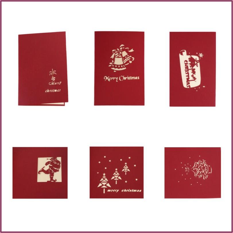 Pop Up Xmas Cards Templates