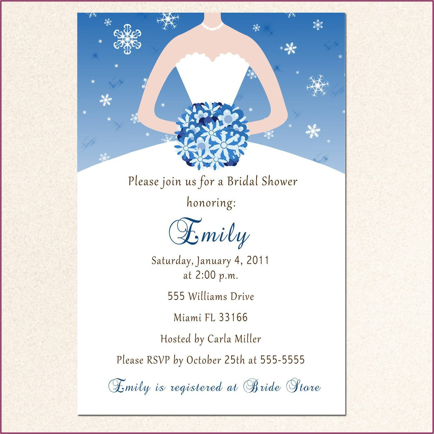 Printable Wedding Shower Invitations Templates