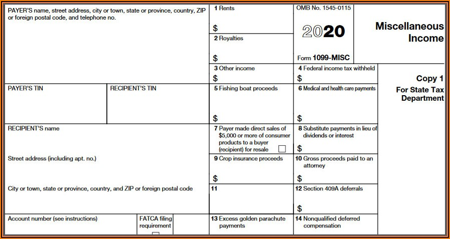 Sample Form 1099 Nec