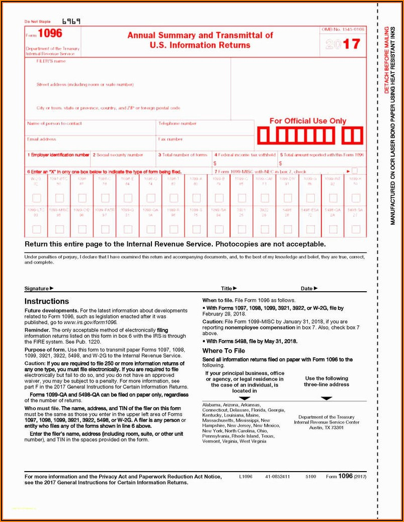 Sample Form 1099