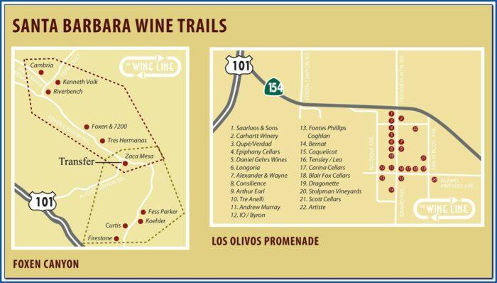 Santa Ynez Wine Trail Map