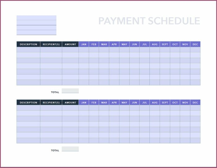 Schedules Excel Templates