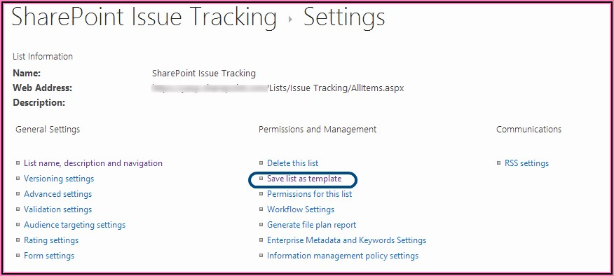 Sharepoint Issue Tracking List Template