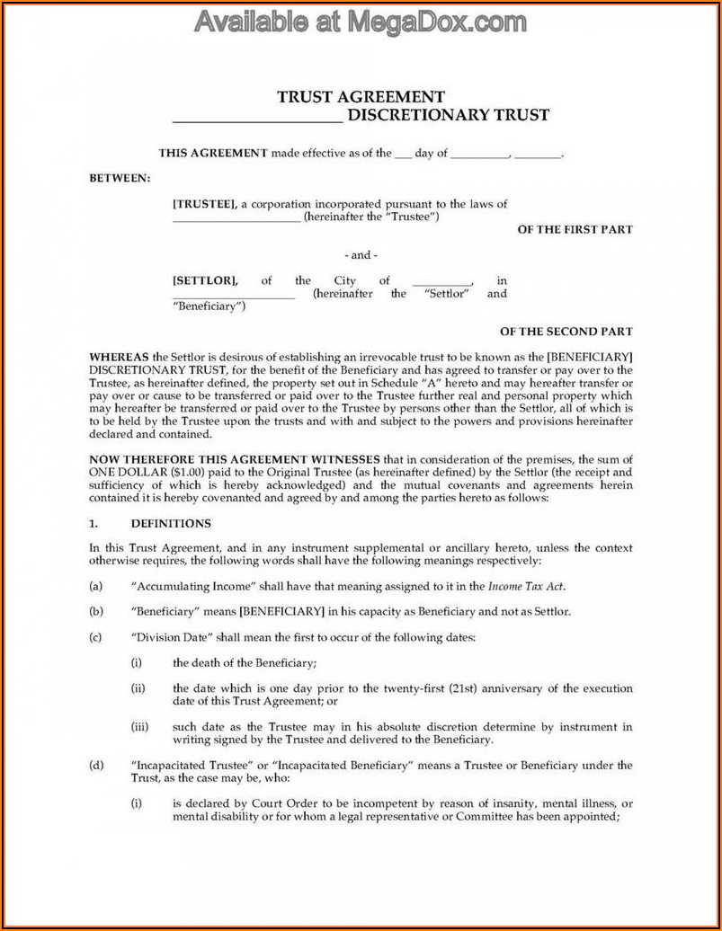 Special Needs Trust Form 1041