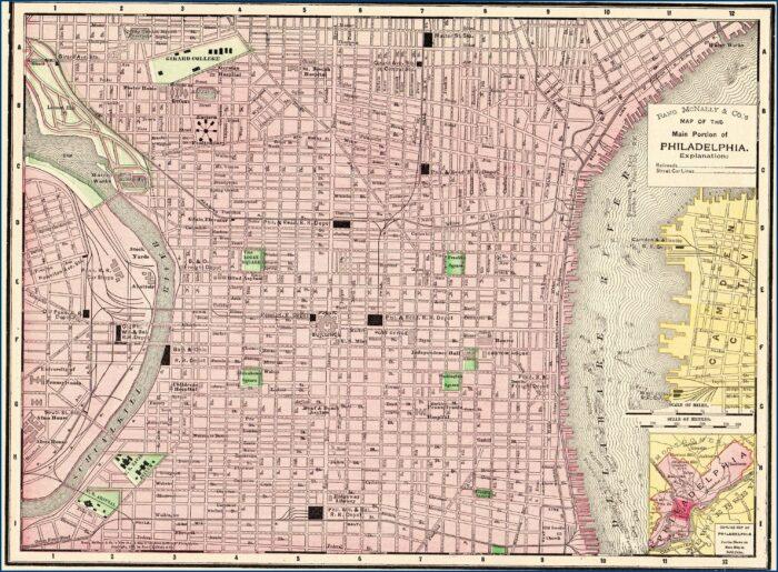 Street Map Of Philadelphia Pennsylvania